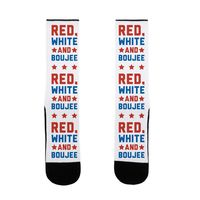 Red White And Boujee US Size 7-13 Socks $16.99 �œ� Handcrafted in USA! �œ� Support American Artisans