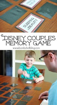 Free printable Disney Couples Memory Game - Fun for the whole family!