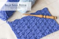 The Solid Shell Stitch is one of the easiest stitches to learn, as the stitch basically just incorporates Single Crochets and Double Crochets, which means that