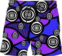 Abstract Eyes Swim Trunks $48.00