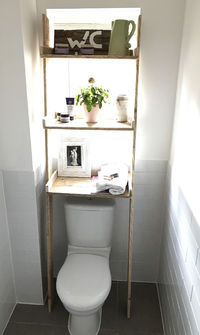 Over the Toilet Storage Ladder Shelf made from Reclaimed Pallet Wood £279.00