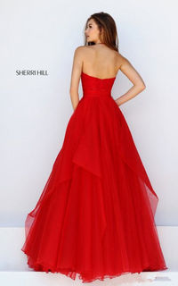 Halter 50032 Organza Red Pageant Dress Sexy