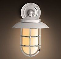 Starboard Milk Glass Sconce With Shade Polished Nickel $299-359