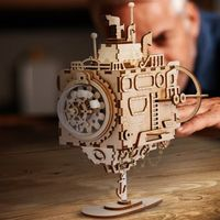 DIY Music Box,Creative 3D Wooden puzzle, Assembly Kit,Submarine Model $69.50