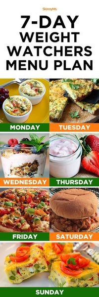 This 7-day Weight Watchers menu plan makes it easy to plan for the week ahead and takes the majority of the stress out of planning for a successful week of weig