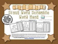 Thanksgiving Sight Word Scramble Word Hunt - (Kindergarten and First Grade Sight Word/Literacy) use magnifying glasses to find letters to unscramble and build a sight word. $