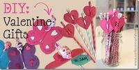 Ridiculously easy valentines day gifts, great for classmates. Just cut out shapes (hearts, butterflies, etc) on construction paper, cut slits to hold the sucker/pencil/straw, and voila! Even includes free printables!