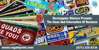 Rectangular Stickers Promote the Ideas and Information - RegaloPrint http://bit.ly/2mlCRNz #RegaloPrint #printing #stickers #stickersprinting #rectangularstickers