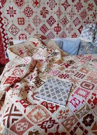 Red quilt