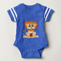 Football Lion Baby Bodysuit