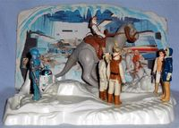 Kenner - Star Wars Rebel Command Center Diarama with various vintage Kenner figures and Tauntaun