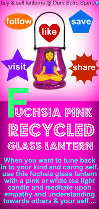RECYCLED PINK GLASS LANTERN ~ you can purchase this candle from the new Age Dum Spiro Spero wOrld Store