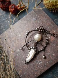 """Pendant """" The medallion is the Gamayun bird """". Handmade necklace with natural pearl. Bohemian jewelry by OfelWay $37.00"""