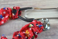 Stethoscope Cover Christmas Holiday - Joyful Snowman (Red Background) $7.99