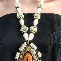 Elegant Kundan work Neklace set with earrings   RewazCreations