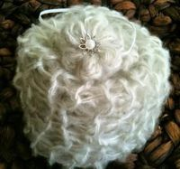 Limited Mohair Whisper Wrap with Matching Headband. $40 available at http://www.zibbet.com/AngelsPurplePantry