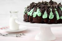 This Grasshopper Bundt Cake is a rich, moist, and minty crowd pleaser. You won't have a slice left!