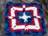 Beautiful crocheted patriotic square