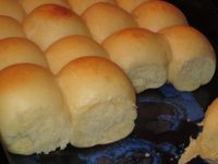 Makes 24 yummy rolls. The rolls will be baked in a 9 x 13 pan. The roll are easy to make but if you have a bread machine it can be even easier. If you have a b.