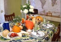 Fall Bounty Thanksgiving Table setting