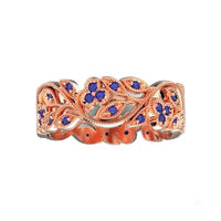 White Gold Leaf Ring Twig Ring Sapphire ring Milgrain Ring Wedding band Sapphire Ring Engraved Ring Flower Band Leaf Ring Wedding Band $890.00