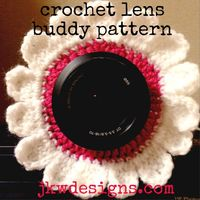 Flower lens buddy - free crochet pattern by jkwdesigns