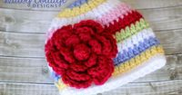 red striped hat by Daisy Cottage Designs, via Flickr