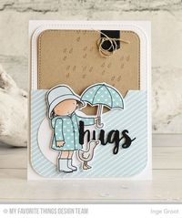 Showering You With Love Stamp Set and Die-namics, Sending Hugs Die-namics, Blueprints 31 Die-namics - Inge Groot #mftstamps