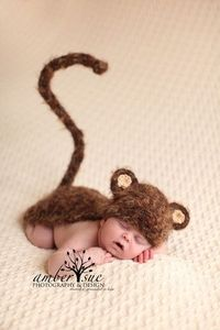 Baby Crochet Monkey Hat Cape Photography Prop | eBay