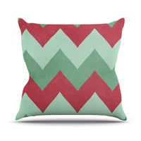 Holiday Chevrons Pillow Cover | KESS inHouse - BLACK FRIDAY SALE