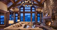 Great Room with an Incredible View! - Yellowstone Club, Big Sky, MT - Builder: Schlauch Bottcher Construction - Photography: © Roger Wade Studio