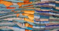 Tim-harding- a master of the layer, stitch and slash surface koi detail, from his water series.