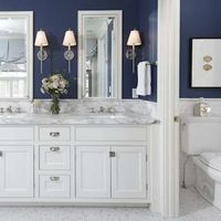 The all-white bathroom is a familiar design icon: crisp white walls, marble vanity top, gleaming porcelain, plush white towels. But after years of being conside