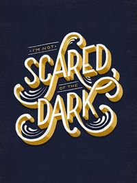 typography design, lettering and dark.