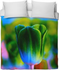 Green Tulip Duvet Cover $120.00