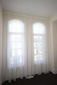 Sheer Voile Fabric Curtain. Top Pleat Style. $122.00