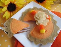 Pumpkin Pie Pancakes and Free Printable Tutorial featured at LivingLocurto.com