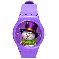 Colorful Snowman on a Purple Plastic/ Rubber Watch, for Women or Girls $26.00