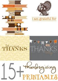 ROUND-UP of 15+ FREE Thanksgiving Printables! { lilluna.com } #thanksgiving #printables