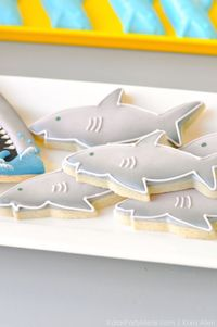 Scan the waters because this Jawsome Shark Themed Birthday Party is coming your way! Styled by Kara of Kara's Party Ideas, you don't want to miss this one!!