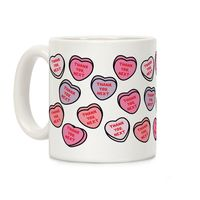 Thank You Next Candy Hearts Ceramic Coffee Mug $14.99 �œ�Handcrafted in the USA! �œ�