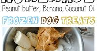 All you need is 3 ingredients to make these Frozen Peanut Butter, Banana, Coconut Oil Dog Treats. They're all natural and you serve them straight from the Freez