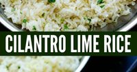 I have been making this CILANTRO LIME RICE for about a million years. It's just like the one from Cafe Rio and we absolutely love it. It is my go-to rice recipe, besides our beloved Mexican Rice, that I make any time we're whipping up some Mex...