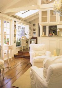 I could really enjoy the morning sunshine in this family room...coffee and a book sounds perfect