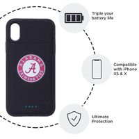 Alabama Crimson Tide iPhone X Xs Wireless Charging Smart Battery Phone Case $49.99
