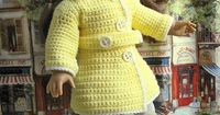 """Ravelry: American Girl Rainy Day Set 18"""" Doll Coat Hat and Boots pattern by Cheyenna Skelton"""