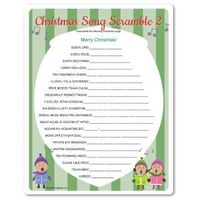This is a graphic of Sizzling Christmas Song Scramble Free Printable