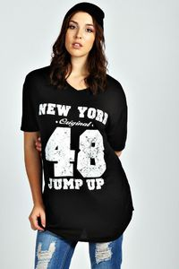 Lily New York Oversized Tee at boohoo.com