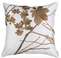 Leaf Ivory Silk with Gold Square Pillow by Lili Alessandra $325.00
