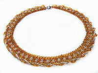 Free pattern for necklace Gold